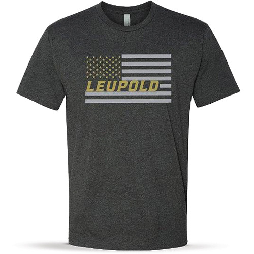 Leupold Men's Short-Sleeved Flag Tee Shirt (L, Charcoal Heather)
