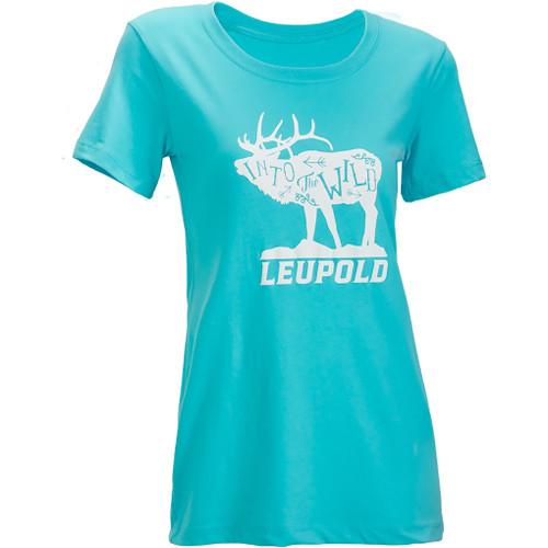Leupold Women's Short-Sleeved WILD Tee Shirt (L, Teal)