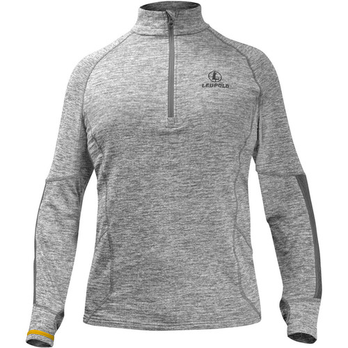 Leupold Men's Covert Half-Zip Fleece (Gray Heather, Large)