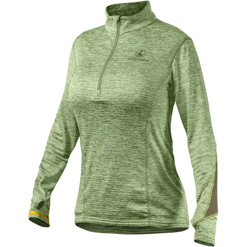 Leupold Women's Covert Half-Zip Fleece (Green Heather, X-Large)