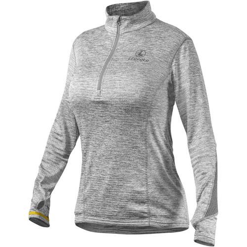 Leupold Women's Covert Half-Zip Fleece (Gray Heather, Large)