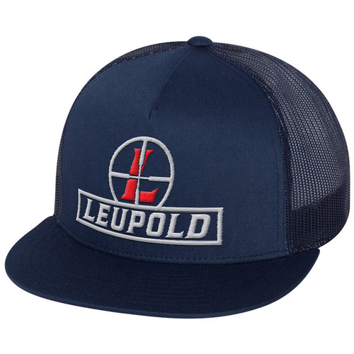 Leupold Reticle Flat Brim Trucker Hat (Navy Blue)