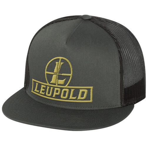 Leupold Reticle Flat Brim Trucker Hat (Gray)
