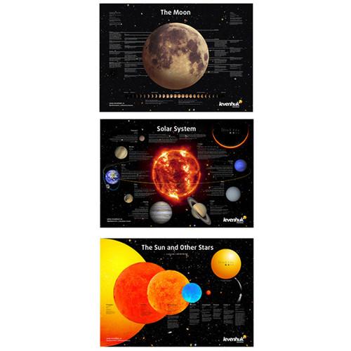 Levenhuk 3-Piece Space Posters Set