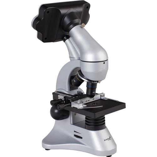 Levenhuk D70L Digital Biological Microscope Kit (Cordless, Gray)