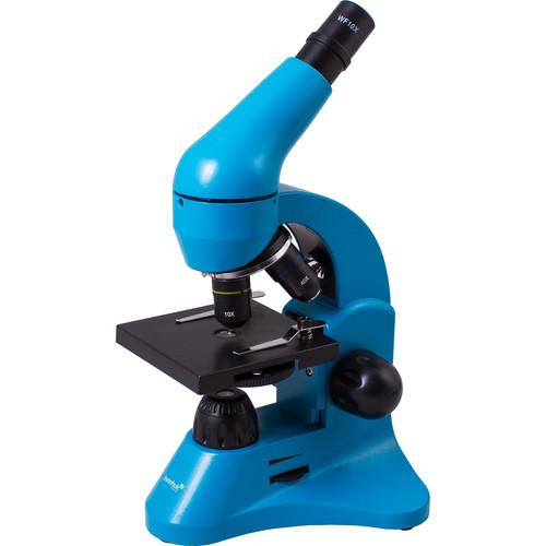 Levenhuk Rainbow 50L Monocular Microscope Kit (Cordless, Azure)
