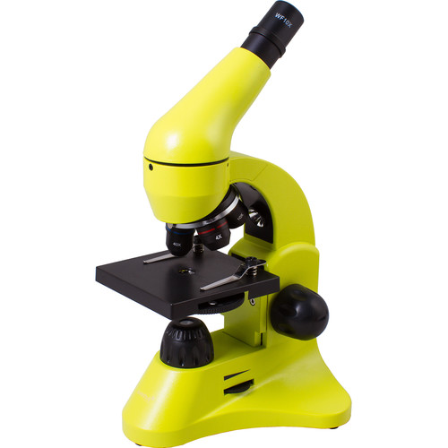 Levenhuk Rainbow 50L Monocular Microscope Kit (Cordless, Lime)