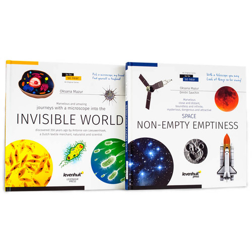 Levenhuk Space/Microworld Knowledge Book Set (Two-Volume Edition)
