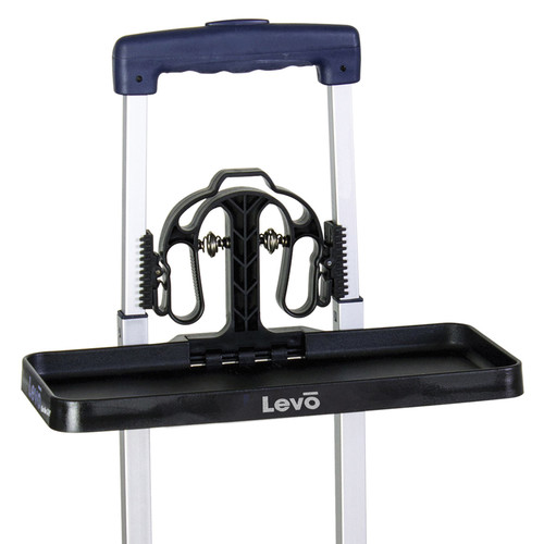 LEVO Traveler's Luggage Tray Workstation for Tablets and Smartphones (Black)