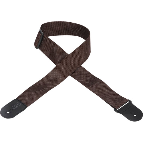 "Levy's 2"" Polypropylene Guitar Strap with Polyester Ends and Tri-Glide Adjustment (Up to 54"", Brown)"