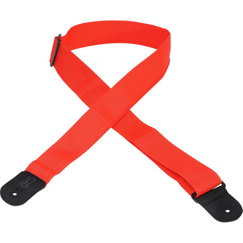 "Levy's 2"" Polypropylene Guitar Strap with Polyester Ends and Tri-Glide Adjustment (Up to 54"", Red)"