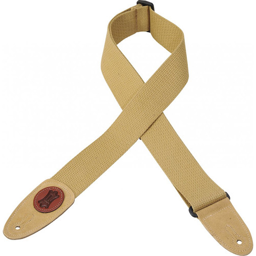 Levy's Signature Series Cotton Guitar Strap (Tan)