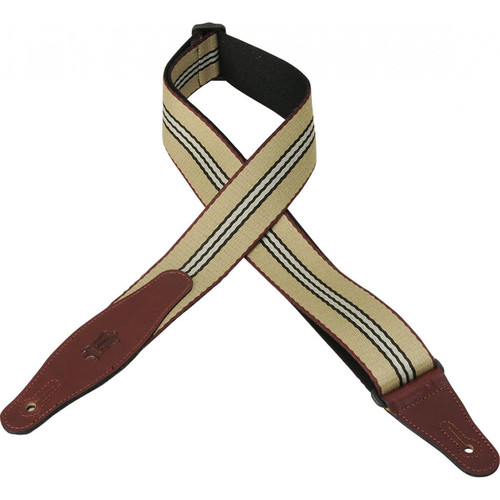Levy's Woven Guitar Strap with Leather Ends (Pattern 002)