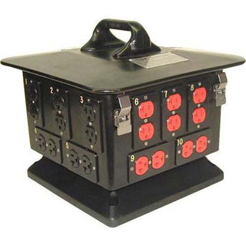 Lex Products PowerHOUSE Pagoda 3-Phase Power Distribution Box (100A, 120 VAC)