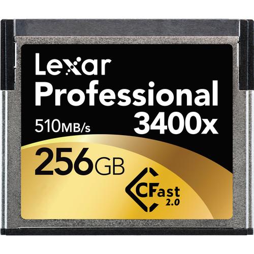 Lexar Professional 256GB 3400x CFast 2.0 Memory Card