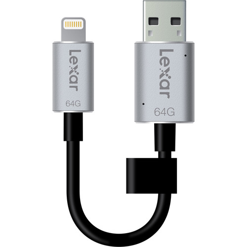 Lexar 64GB JumpDrive C20i Lightning to USB 3.0 Cable with Built-In Flash Drive