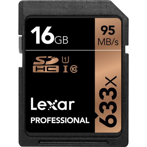 Lexar 16GB Professional UHS-I SDHC Memory Card (U1)