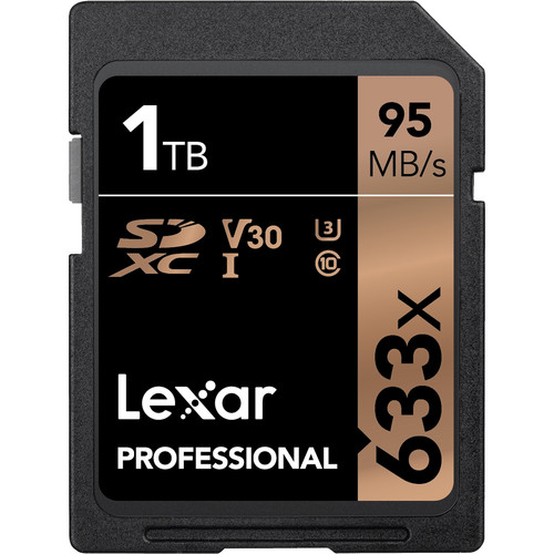 Lexar Professional  SDXC Card 1TB Bl 633X Card