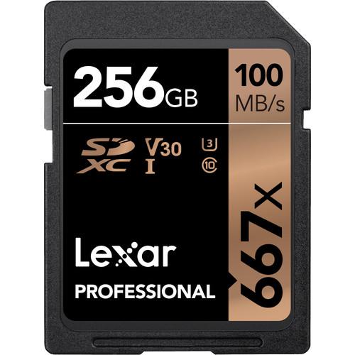 Lexar 256GB Professional 667x UHS-I SDXC Memory Card