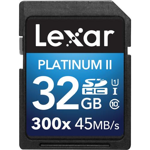 Lexar 32GB Platinum II UHS-I 300x SDHC Memory Card (Class 10)