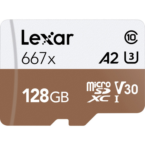 Lexar 128GB Professional 667x UHS-I microSDXC Memory Card with SD Adapter