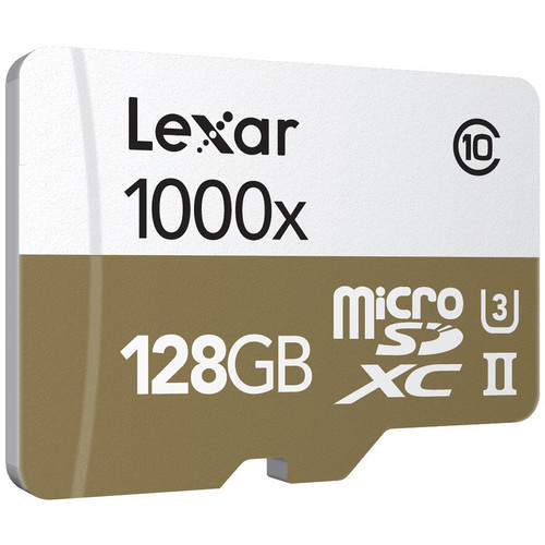 Lexar 128GB Professional 1000x microSDXC UHS-II Memory Card with USB 3.0 Card Reader