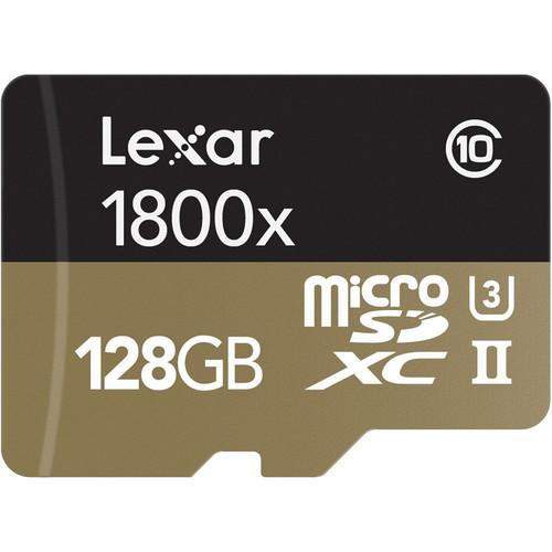 Lexar 128GB Professional 1800x UHS-II microSDXC Memory Card (U3)