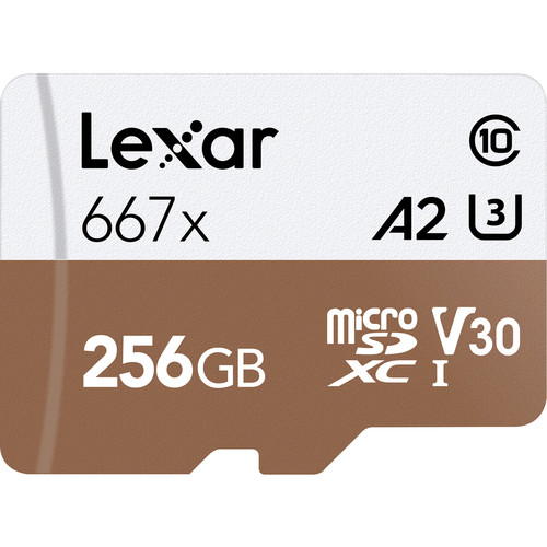 Lexar 256GB Professional 667x UHS-I microSDXC Memory Card with SD Adapter