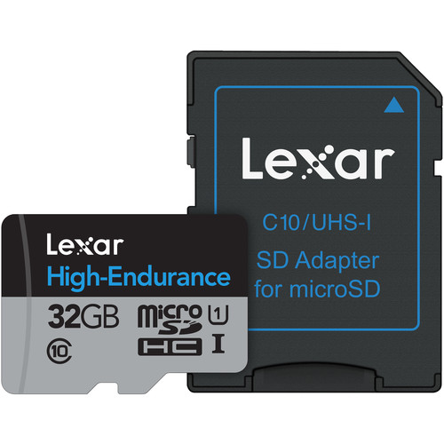 Lexar 32GB High Endurance UHS-I microSDHC Memory Card