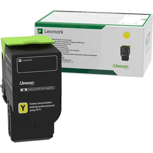 Lexmark 78C10Y0 Yellow Return Program Toner Cartridge for Select Color Laser Printers