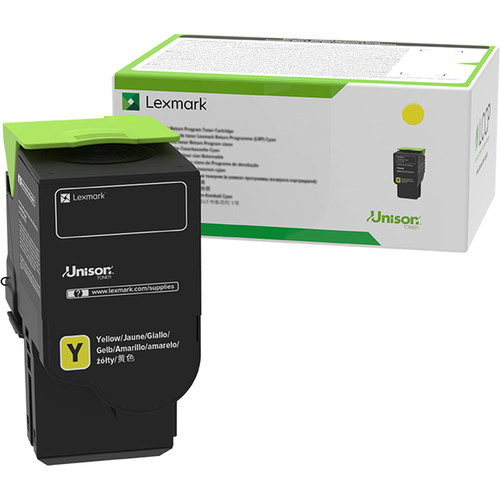 Lexmark 78C1XY0 Yellow Extra High Yield Return Program Toner Cartridge