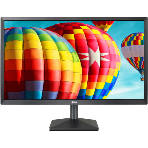 """LG 24"""" LCD D-Sub HDMI DP Tilt Vesa Monitor (Black)"""