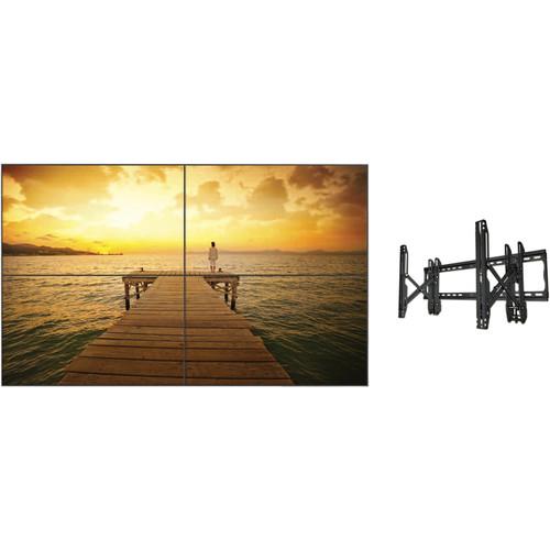 LG 2x2 47LV35W-4C Video Wall Bundle with Mounts
