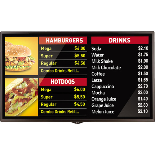 "LG SM3C Series 49"" Full HD Signage Display with Embedded System-on-Chip (Black)"