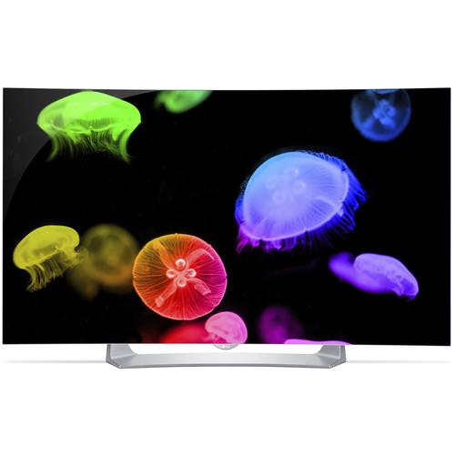 """LG EG9100 Series 55""""-Class Full HD Smart Curved OLED 3D TV"""