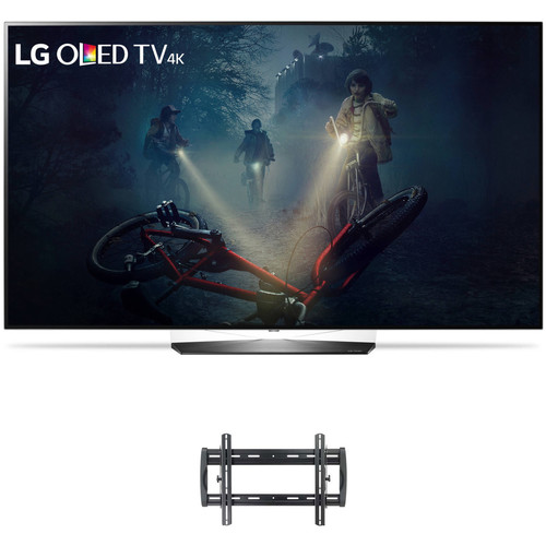"LG B7A-Series 55""-Class HDR UHD Smart OLED TV and Tilting Wall Mount Kit"