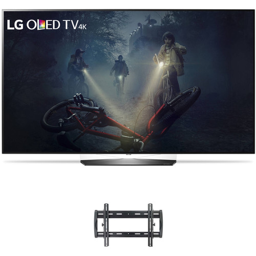 "LG B7A-Series 65""-Class HDR UHD Smart OLED TV and Tilting Wall Mount Kit"