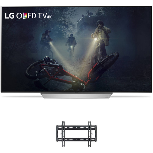 "LG C7P-Series 55""-Class UHD Smart OLED TV and Tilting Wall Mount Kit"