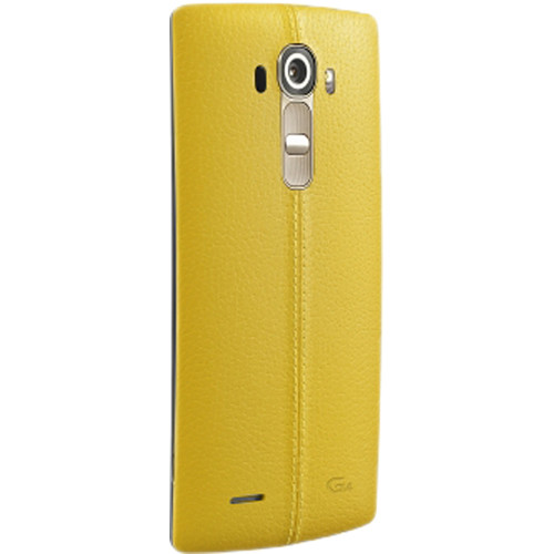 LG Leather Back Cover for LG G4 (Yellow)