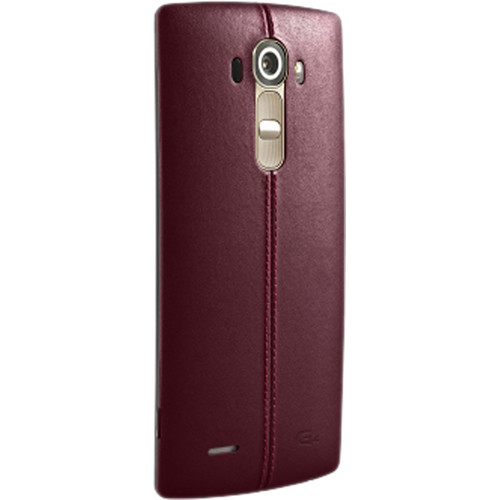 LG Leather Back Cover for LG G4 (Red)