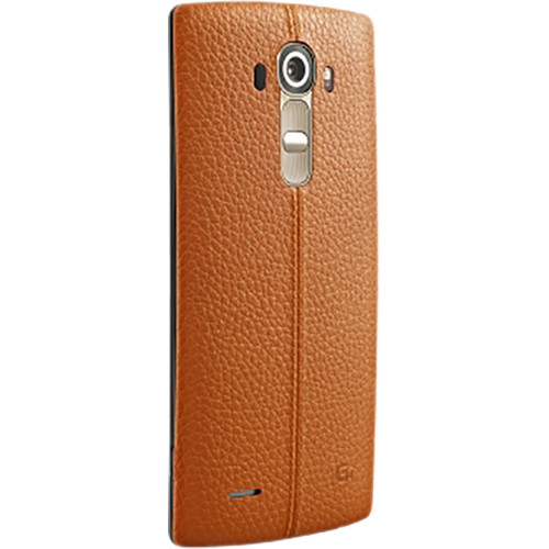 LG Leather Back Cover for LG G4 (Orange)
