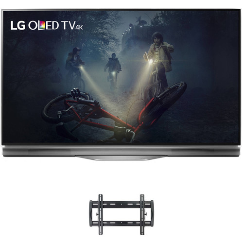 "LG E7P-Series 55""-Class UHD Smart OLED TV and Tilting Wall Mount Kit"