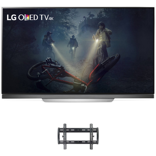"LG E7P-Series 65""-Class UHD Smart OLED TV and Tilting Wall Mount Kit"