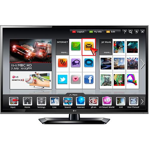 """LG 55LS579C 55"""" LED Prosumer Widescreen Smart HDTV (Glossy Black)"""