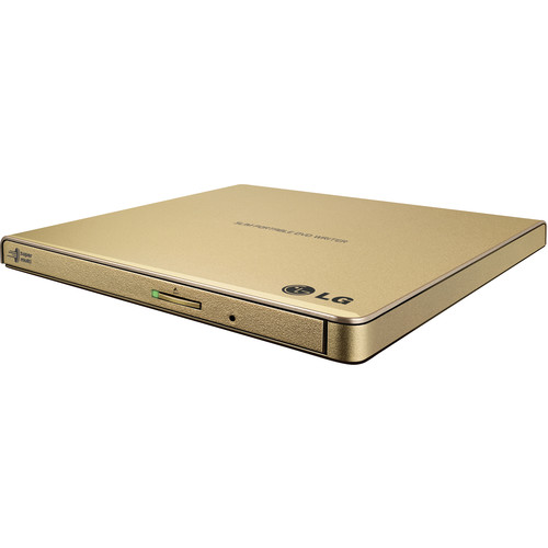 LG GP65NG60 Portable USB External DVD Burner and Drive (Gold)