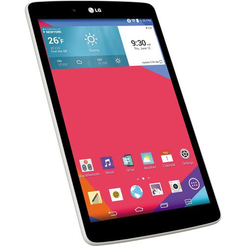 """LG 16GB G Pad 8.0"""" Wi-Fi Tablet (White)"""