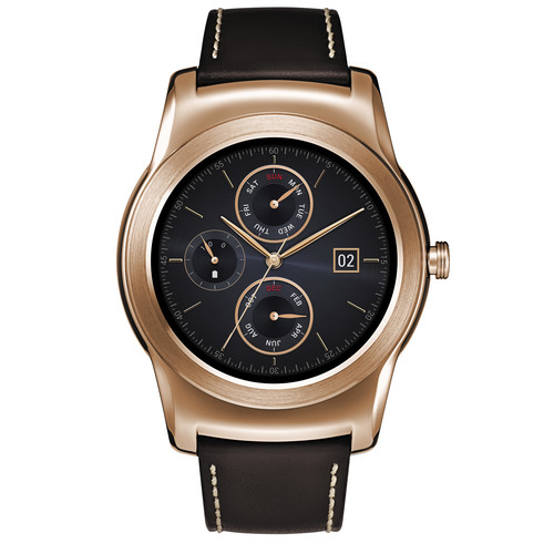 LG Watch Urbane Smartwatch (Gold with Brown Strap)