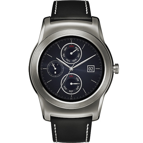 LG Watch Urbane Smartwatch (Silver with Black Strap)