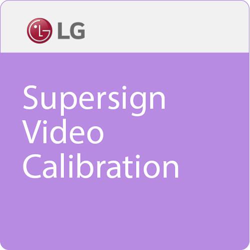 LG Supersign Video Calibration