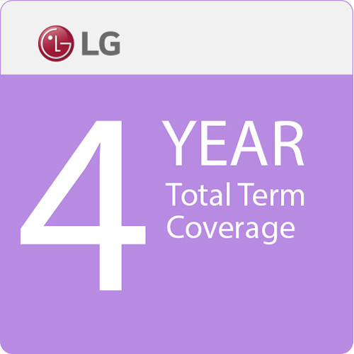 "LG 4-Year Total Term Coverage with 24-Hour Quick Swap Service for 38"" Small-Format Displays"